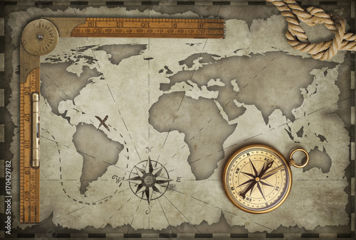 old-map-background-with-compass