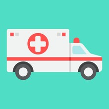 Ambulance Flat Icon, Medicine ...