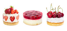 Set Of Cheesecake Isolated On ...