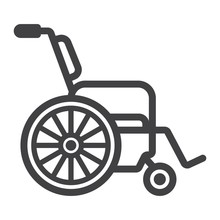 Wheelchair Line Icon, Medicine...