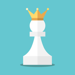 Crowned white pawn
