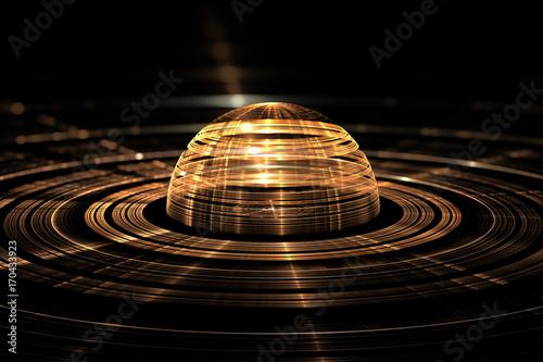 Abstract orb. Fractal digital artwork, 3d illustration Canvas-taulu