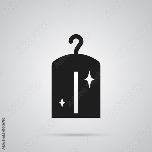 Isolated Dry Cleaning Icon Symbol On Clean Background Vector