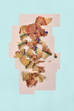 Collage Of Pictures Of Pencil Shavings
