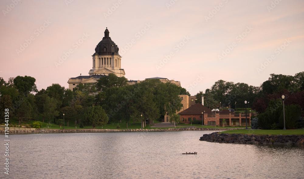 Fototapety, obrazy: South Dakota State Capital Building Hughes County Pierre SD