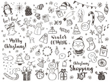 Big Set Of Christmas Design El...