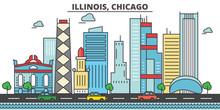 Illinois, Chicago.City Skyline...
