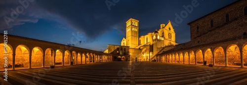 Italy beauty, Basilica of Saint Francis of Assisi, Assisi, Umbria Wallpaper Mural