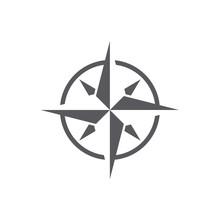 Vector Dark Grey Windrose Icon