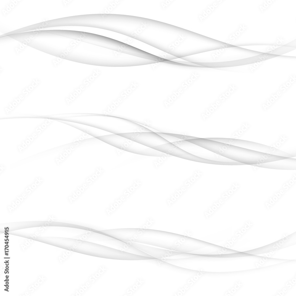 Fototapeta Modern transparent swoosh speed halftone modernistic lines collection. Elegant futuristic wind smooth mild smoke air waves