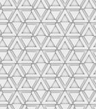 3d geometryczny dekoracyjny bezszwowy wzór, trójboki i sześciokąty, projekta tło - 170461300