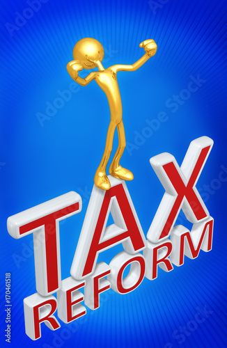 Tax Reform With The Original 3D Character Illustration Wallpaper Mural