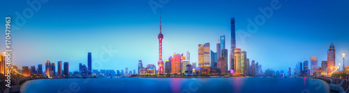 Photo  Shanghai skyline cityscape