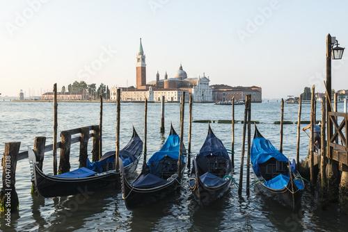 Spoed Foto op Canvas Gondolas at San Marco