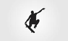 Skateboard Freestyle Silhouette