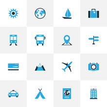 Journey Colorful Icons Set. Co...