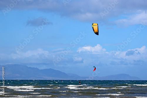 kitesurfers at Troon, Scotland