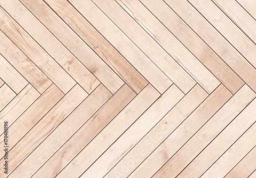 Obraz Natural brown wooden parquet herringbone. Wood texture. - fototapety do salonu