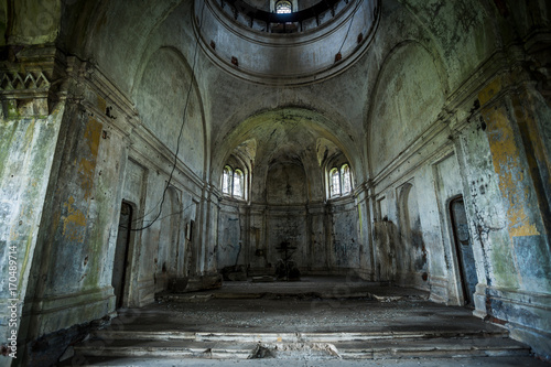 Photo sur Toile Edifice religieux Interior of abandoned church of Dmitry Solunsky