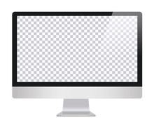 Monitor In Imac Style With Bla...