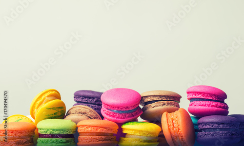 Poster Macarons Colourful macaroons, vintage tone
