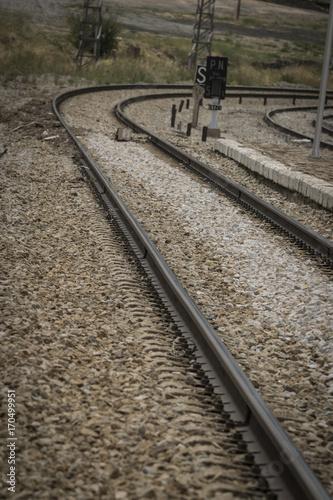 Vías de tren Canvas-taulu