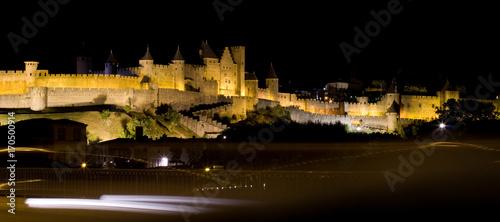 Photo Cité de Carcassonne de nuit