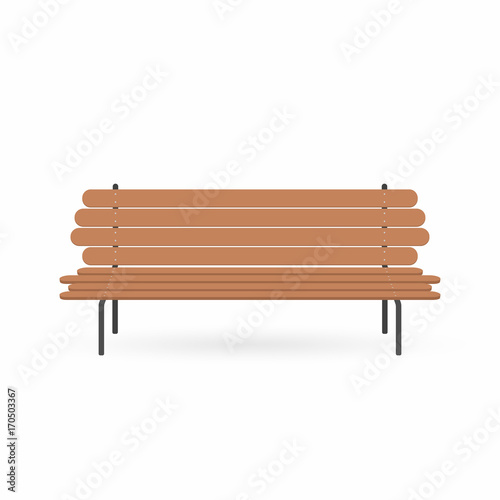 Prime Wooden Bench Street Brown Bench Isolated On White Onthecornerstone Fun Painted Chair Ideas Images Onthecornerstoneorg