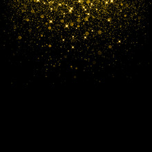 Gold Glitter Background With S...