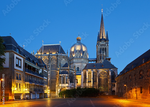Aachen Cathedral At Night, Germany Wallpaper Mural