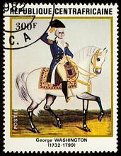 George Washington - 1st American President On Postage Stamp