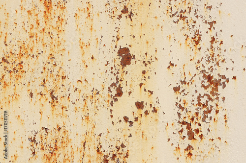 Weathered Rusty on White Paint Wall Texture. Scratches and Cracks ...