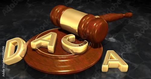 Photo DACA Deferred Action For Childhood Arrivals Legal Concept 3D Illustration