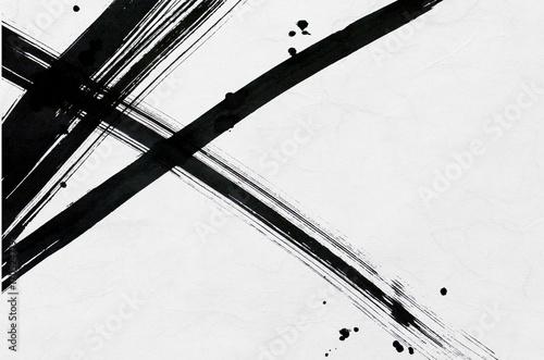 linia-narysowana-za-pomoca-pedzla-i-kropek-japonskie-tlo-papieru