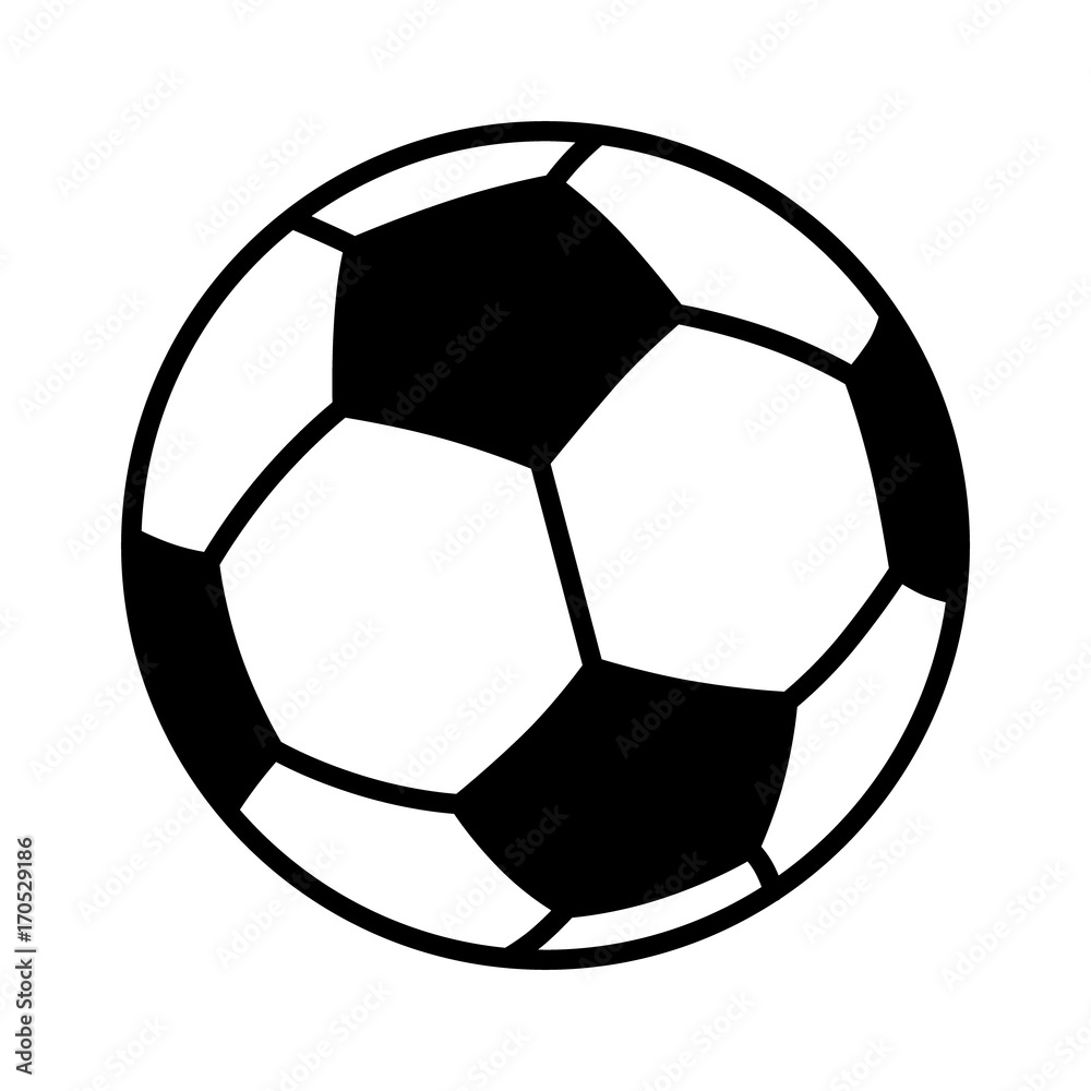 Fototapety, obrazy: Soccer ball or football flat vector icon for sports apps and websites