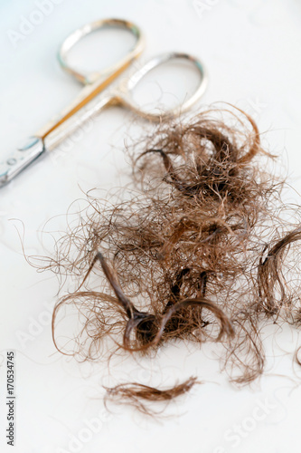 pubic hair and scissors - Buy this stock photo and explore similar ...