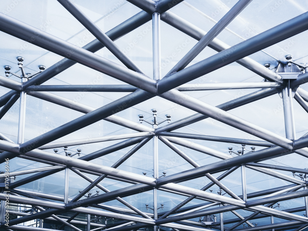 Fototapety, obrazy: Steel structure Architecture detail Abstract Background