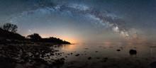 Milky Way Arc Over Beach