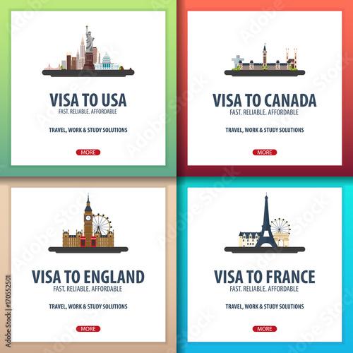 Valokuva  Visa to Usa, Canada, England, France