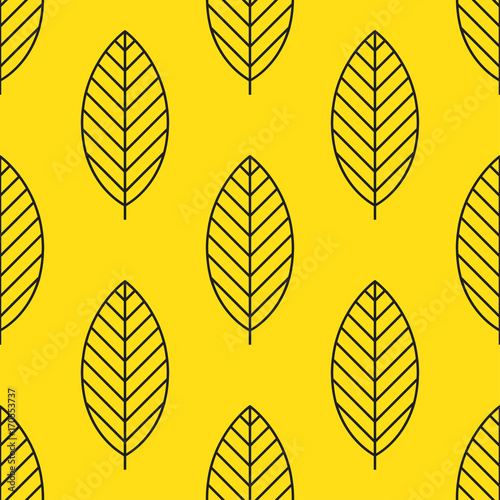 seamless-stylized-leaf-pattern