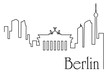 Berlin city one line drawing background