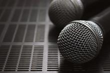 Closeup Microphone On The Volu...
