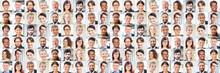 Viele Geschäftsleute Porträts Als Multikulturelles Team