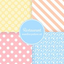 Restaurant Or Bistro Theme. Pa...