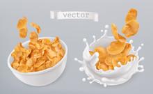 Corn Flakes And Milk Splashes....