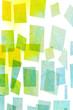 Geometrische Formen auf Wasserfarben  - bunter abstrakter Hintergrund