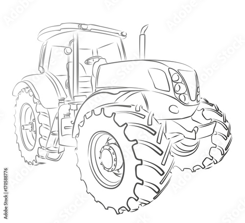 Tractor Sketch Buy This Stock Illustration And Explore