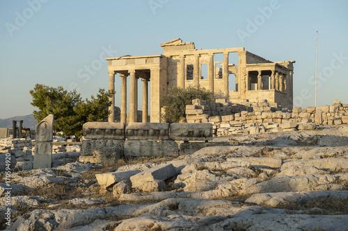 Plakat Erechtejon na Akropolu w Atenach
