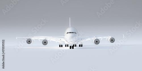 Fotografia  airplane isolated on white