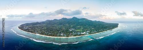 Fotografie, Obraz  Rarotonga Polynesia Cook Island tropical paradise aerial view